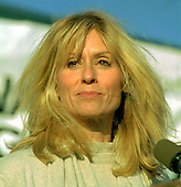 """Actress Judith Light speaks in support of the goals of the Human Rights Campaign """"Come Out Voting"""" rally on the Ellipse in Washington, D.C. on October 11, 1996..Credit: Ron Sachs / CNP"""