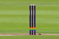 The stumps with rainbow hoops ahead of Gloucestershire vs Essex Eagles, NatWest T20 Blast Cricket at The Brightside Ground on 13th August 2017