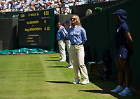 A line judge on Court 1<br /> <br /> Photographer Ashley Western/CameraSport<br /> <br /> Wimbledon Lawn Tennis Championships - Day 3 - Wednesday 5th July 2017 -  All England Lawn Tennis and Croquet Club - Wimbledon - London - England<br /> <br /> World Copyright &not;&copy; 2017 CameraSport. All rights reserved. 43 Linden Ave. Countesthorpe. Leicester. England. LE8 5PG - Tel: +44 (0) 116 277 4147 - admin@camerasport.com - www.camerasport.com