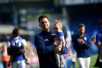 Ipswich Town's Jonas  Knudsen with his daughter <br /> <br /> Photographer Hannah Fountain/CameraSport<br /> <br /> The EFL Sky Bet Championship - Ipswich Town v Swansea City - Monday 22nd April 2019 - Portman Road - Ipswich<br /> <br /> World Copyright © 2019 CameraSport. All rights reserved. 43 Linden Ave. Countesthorpe. Leicester. England. LE8 5PG - Tel: +44 (0) 116 277 4147 - admin@camerasport.com - www.camerasport.com