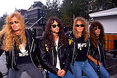 Aug 1990: MEGADETH - Photosession in Amsterdam Netherlands