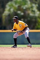 Pittsburgh Pirates second baseman Francisco Mepris (51) during an Instructional League Intrasquad Black & Gold game on September 21, 2016 at Pirate City in Bradenton, Florida.  (Mike Janes/Four Seam Images)