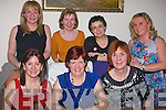 7 friends from Tralee dined together last Saturday night in Bella Bia restaurant, Tralee as 7 years ago they all had a new baby each, front l-r: Caroline Lynch, AnnMarie Healy and Brenda O'Connell. Back l-r: Stella O'Shea, Helen Lawless, Caroline Doyle and Deirdre Dennehy..