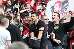 20.03.2011,  BayArena, Leverkusen, GER, 1. FBL, Bayer Leverkusen vs Schalke 04, 27. Spieltag, im Bild: Michael Ballack (Leverkusen #13) im Fanblock  Foto © nph / Mueller
