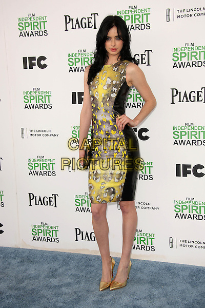 SANTA MONICA, CA - March 01: Krysten Ritter at the 2014 Film Independent Spirit Awards Arrivals, Santa Monica Beach, Santa Monica,  March 01, 2014. Credit: Janice Ogata/MediaPunch<br /> CAP/MPI/JO<br /> &copy;JO/MPI/Capital Pictures