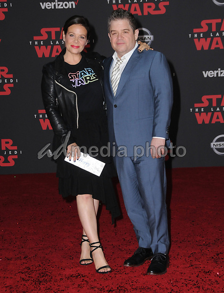 "09 December  2017 - Los Angeles, California - Meredith Salanger, Patton Oswalt. Premiere Of Disney Pictures And Lucasfilm's ""Star Wars: The Last Jedi"" held at The Shrine Auditorium  in Los Angeles Photo Credit: Birdie Thompson/AdMedia"