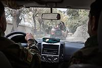 ANA (Afghan National Army) convoy of the 201 corps to Tora Bora,Tora Bora, Afghanistan, 14th November 2017.<br /> <br /> Convoi de l'ANA (Armée nationale afghane) de la 201 corps  à Tora Bora, Tora Bora, Afghanistan, 14 novembre 2017.