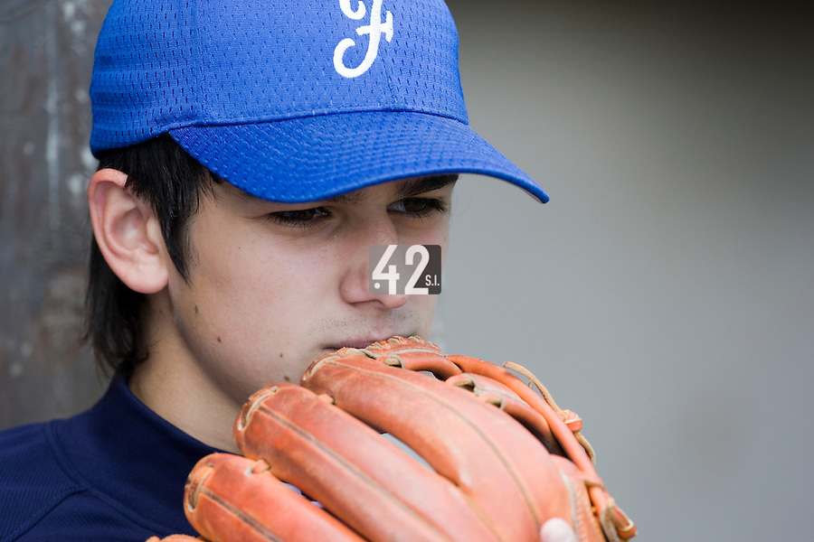 30 April 2008: Maxime Lefevre of France is seen during the first of seven 2008 MLB European Academy Try-out Sessions throughout Europe, at Stade Kandy Nelson Ball Park, in Toulouse, France. Try-out sessions are run by members of the Major League Baseball Scouting Bureau with assistance from MLBI staff.