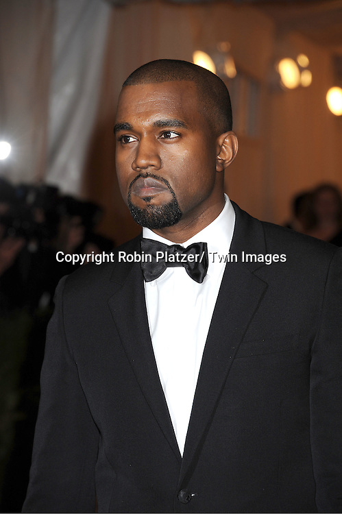 "Kanye West attends the Costume Institute Gala Benefit celebrating ""Schiaparelli and Prada: Impossible Conversations"".an exhibition at the Metropolitan Museum of Art in New York City on May 7, 2012."