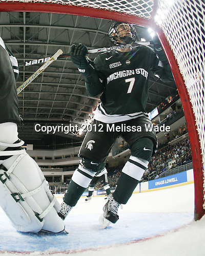 Tim Buttery (MSU - 7) - The Union College Dutchmen defeated the Michigan State University Spartans 3-1 in their NCAA East Regional semifinal on Friday, March 23, 2012, at the Webster Bank Arena in Bridgeport, Connecticut.