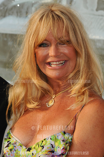 Goldie Hawn attending The Elephant Parade auction in aid of The Elephant Family at Royal Hospital Chelsea. 30/06/2010  Picture by: Steve Vas / Featureflash