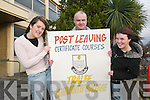 Courses: Rebecca ODonoghue, Gerard ODonnell and Brid Spillane at college on Friday, as they are all students of Tralee Community College, where six new courses have been introduced to the wide variety of programmes available..