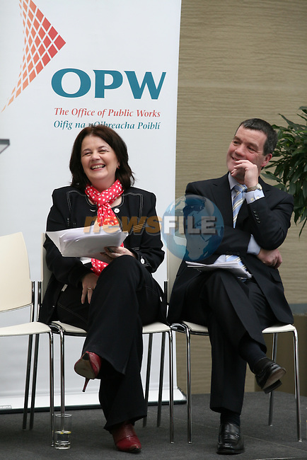 OPW Chairperson Clare McGrath and  Minister Noel Dempsey at he Opening..Photo NEWSFILE/Jenny Matthews.(Photo credit should read Jenny Matthews/NEWSFILE)....This Picture has been sent you under the condtions enclosed by:.Newsfile Ltd..The Studio,.Millmount Abbey,.Drogheda,.Co Meath..Ireland..Tel: +353(0)41-9871240.Fax: +353(0)41-9871260.GSM: +353(0)86-2500958.email: pictures@newsfile.ie.www.newsfile.ie.FTP: 193.120.102.198.