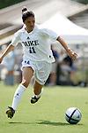 Shelly Marshall, of Duke, on Sunday September 18th, 2005 at Koskinen Stadium in Durham, North Carolina. The Duke University Blue Devils defeated the University of San Diego Toreros 5-0 during the Duke adidas Classic soccer tournament.