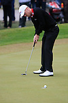 David Horsey (ENG) sinks his putt on the 5th green during Day 3 of the BMW PGA Championship Championship at, Wentworth Club, Surrey, England, 28th May 2011. (Photo Eoin Clarke/Golffile 2011)