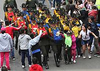 BOGOTÁ - COLOMBIA, 20-07-201:Policia Nacional .Desfile Militar por la Avenida 68 de la capital , durante el 209 Aniversario del Día de la Independiencia Nacional ./Military Parade through Avenida 68 in the capital, during the 209th Anniversary of National Independence Day. Photo: VizzorImage / Felipe Caicedo / Satff