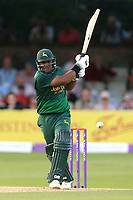 Samit Patel hits four runs for Notts during Essex Eagles vs Notts Outlaws, Royal London One-Day Cup Semi-Final Cricket at The Cloudfm County Ground on 16th June 2017