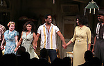 Amelia Campbell, Daphne Rubin-Vega, Blair Underwood, Nicole Ari Parker & Wood Harris.during the Broadway Opening Night Curtain Call for 'A Streetcar Named Desire' on 4/22/2012 at the Broadhurst Theatre in New York City.