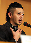 """September 19, 2017, Tokyo, Japan - Japanese actor Joe Odagiri speaks for his latest movie """"Ernesto"""" at the Foreign Correspondents' Club of Japan in Tokyo on Tuesday, September 19, 2017. Japan-Cuba co-production movie will be screening on October 6.    (Photo by Yoshio Tsunoda/AFLO) LWX -ytd-"""