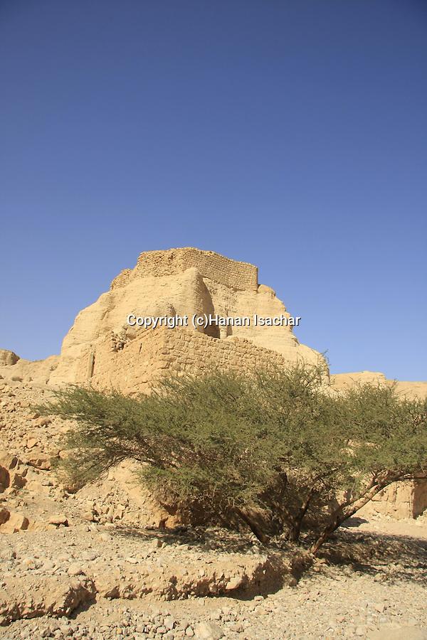 Israel, the Judean Desert, Zohar Fortress in Wadi Zohar