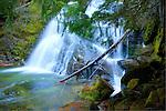 Snow Creek Falls in the Selkirk Range of Boundary County, Idaho.