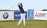 Jake Roos (RSA) plays driver to the 2nd hole during Round Two of the 2015 Nordea Masters at the PGA Sweden National, Bara, Malmo, Sweden. 05/06/2015. Picture David Lloyd | www.golffile.ie