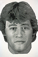 E-fit picture used by the police...© SHOUT. THIS PICTURE MUST ONLY BE USED TO ILLUSTRATE THE EMERGENCY SERVICES IN A POSITIVE MANNER. CONTACT JOHN CALLAN. Exact date unknown.john@shoutpictures.com.www.shoutpictures.com..