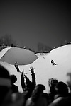 The US Open of Snowboarding, presented by Burton Snowboards is held at Stratton Mountain Resort every March.  This is the halfpipe contest, March 2009.