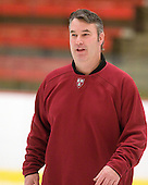 John O'Donnell (Harvard - Equipment Manager) - The Boston University Terriers defeated the Harvard University Crimson 6-5 in overtime on Tuesday, November 24, 2009, at Bright Hockey Center in Cambridge, Massachusetts.