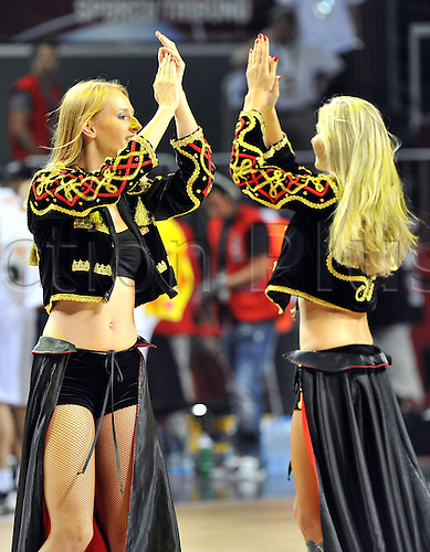 Sep 04, 2010; Istanbul, TURKEY; Defending champions Spain broke open a close game in the fourth quarter and continued their mastery over Greece by winning their Eight-Final showdown at the FIBA World Championship on Saturday. Cheerleaders.