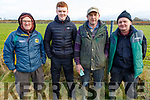 Sean Higgins (Ballyheigue), Darragh Murnane (Kilflynn), Eugene Costello (Abbeydorney) and Paddy Murnane at the Ballyduff Coursing on Sunday.
