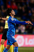 12th January 2018, Estadio Coliseum Alfonso Perez, Getafe, Spain; La Liga football, Getafe versus Malaga; Gaku Shibasaki (Getafe CF) rues a good shooting chance missed