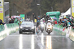 Chris Froome (GBR) Team Sky wins Stage 4 of the 2016 Tour de Romandie, running 173.2km from Conthey to Villars, Switzerland. 30th April 2016.<br /> Picture: Heinz Zwicky | Newsfile<br /> <br /> <br /> All photos usage must carry mandatory copyright credit (© Newsfile | Heinz Zwicky)