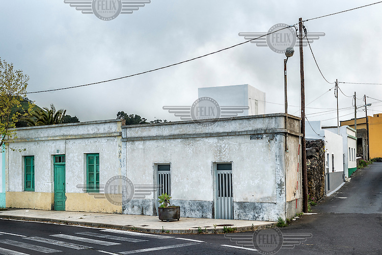 Old weather worn houses on Hierro Island. /Felix Features