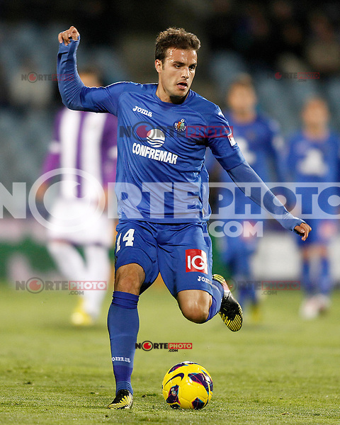 Getafe's Pedro Leon during La Liga match.November 18,2012. (ALTERPHOTOS/Acero) NortePhoto