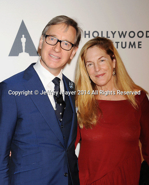 LOS ANGELES, CA- OCTOBER 01: Director Paul Feig (L) and guest attend The Academy of Motion Picture Arts and Sciences' Hollywood Costume Opening Party at the Wilshire May Company Building on October 1, 2014 in Los Angeles, California.