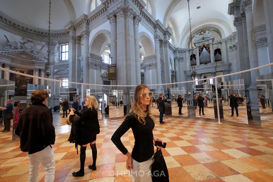 57th Art Biennale in Venice - Viva Arte Viva.<br /> Isola di San Giorgio Maggiore, Basilica di San Giorgio Maggiore.<br /> Michelangelo Pistoletto: One and One makes Three