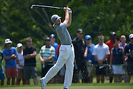 Bethesda, MD - June 27, 2014: Jordan Spieth plays his second shot on hole 4 in the second round of play at the Quicken Loans National at the Congressional Country Club in Bethesda, MD, June 27, 2014.  (Photo by Don Baxter/Media Images International)