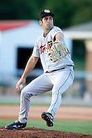 July 18, 2009:  Pitcher Max Fearnow of the Tri-City ValleyCats during a game at Dwyer Stadium in Batavia, NY.  The ValleyCats are the Short-Season Class-A affiliate of the Houston Astros.  Photo By Mike Janes/Four Seam Images
