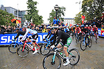 The start of the Men Elite Road Race of the UCI World Championships 2019 running 280km from Leeds to Harrogate, England. 29th September 2019.<br /> Picture: Eoin Clarke | Cyclefile<br /> <br /> All photos usage must carry mandatory copyright credit (© Cyclefile | Eoin Clarke)