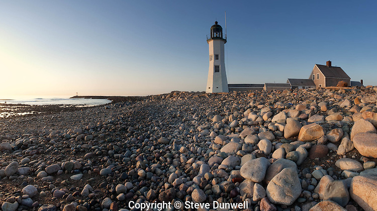 "Sunrise, at lighthouse, Scituate, MA panorama ""Old Scituate Light"", 1810"