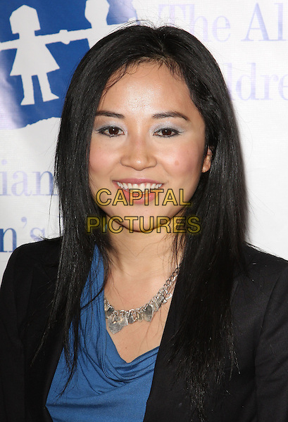 AMY RIDER .Attending The Alliance for Children's Rights held At The Beverly Hilton Hotel, Beverly Hills, California, USA,.10th February 2010..portrait headshot black blue silver necklace .CAP/ADM/KB. ©Kevan Brooks/AdMedia/Capital Pictures..