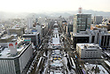 66th Sapporo Snow Festivai February 5th, 2015. The snow festival seen from Sapporo TV Tower, Sapporo, Japan. (Photo by Hitoshi Mochizuki/AFLO)