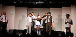 Cast: Melvin Huffnagle, Ade Otukoya, Lamar Cheston, Jeantique Oriol, Thaddeus Daniels, Layon Gray, Delano Barbosa star in Layon Gray's Kings of Harlem - a story about the Harlem Rens who were one of the dominant basketball teams of the 1920's and 1930's - had a special show on September 15, 2015 at St. Luke's Theatre, New York City, New York. The play stars Melvin Huffnagle, Thaddeus Daniels, Ade Otukoya, Lamar Cheston, Delano Barbosa, Jeantique Oriol and Layon Gray.  (Photo by Sue Coflin/Max Photos)