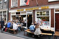 Nederland Amsterdam  2017.  Thaise snackbar Bird op de Zeedijk.     Foto Berlinda van Dam / Hollandse Hoogte