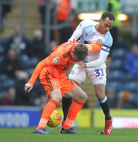 Blackburn Rovers Elliott Bennett battles with  Ipswich Town's Freddie Sears<br /> <br /> Photographer Mick Walker/CameraSport<br /> <br /> The EFL Sky Bet Championship - Blackburn Rovers v Ipswich Town - Saturday 19 January 2019 - Ewood Park - Blackburn<br /> <br /> World Copyright &copy; 2019 CameraSport. All rights reserved. 43 Linden Ave. Countesthorpe. Leicester. England. LE8 5PG - Tel: +44 (0) 116 277 4147 - admin@camerasport.com - www.camerasport.com