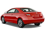 Rear three quarter view of a 2009 Honda Civic Coupe EX