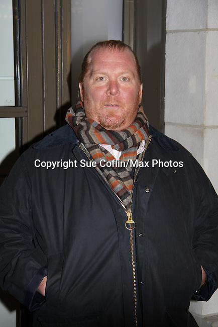 Mario Batali - Opening Night of Broadway's Good People on March 3, 2011 at the Samuel J. Friedman Theatre, New York City, New York.  (Photo by Sue Coflin/Max Photos)