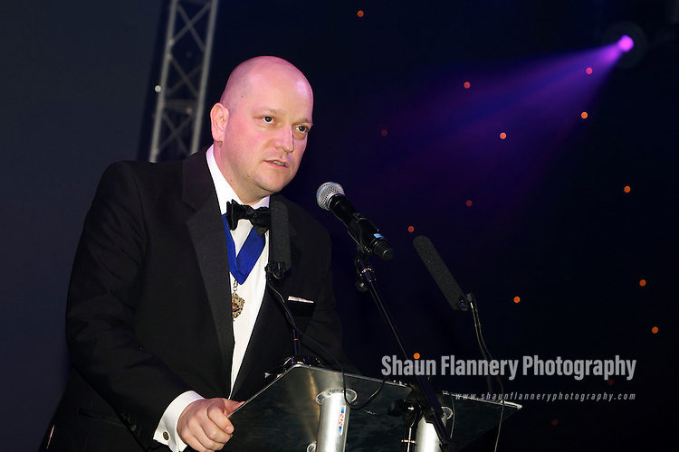 Pix: Shaun Flannery/shaunflanneryphotography.com...COPYRIGHT PICTURE>>SHAUN FLANNERY>01302-570814>>07778315553>>..15th December 2011……………….Doncaster Chamber Business Awards 2011..Doncaster Racecourse & Exhibition Centre..Nigel Brewster, Chamber President