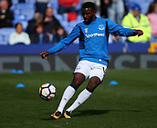 9th September 2017, Goodison Park, Liverpool, England; EPL Premier League Football, Everton versus Tottenham; Cuco Martina of Everton warms up before the match